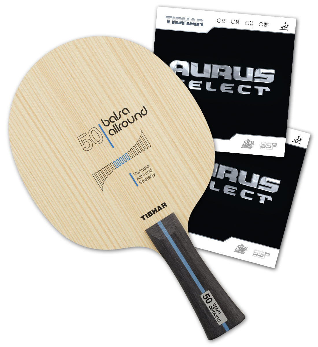 4bb5ae2800 PRO SPECIAL: Tibhar Balsa Allround 50 with Aurus Select-Paddle Palace