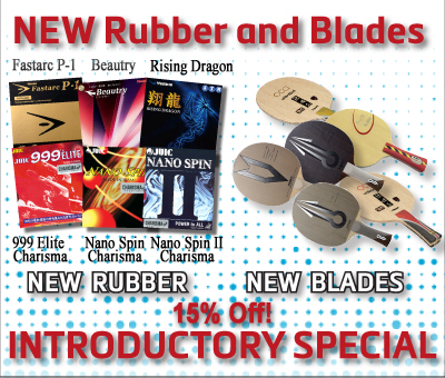 New Rubber & Blades On Special!